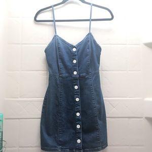 Zara Denim button down sleeveless dress Size XS